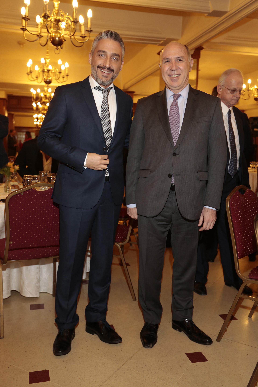 Germán Sasso, editor de La Brújula 24 (Bahía Blanca) y Ricardo Lorenzetti