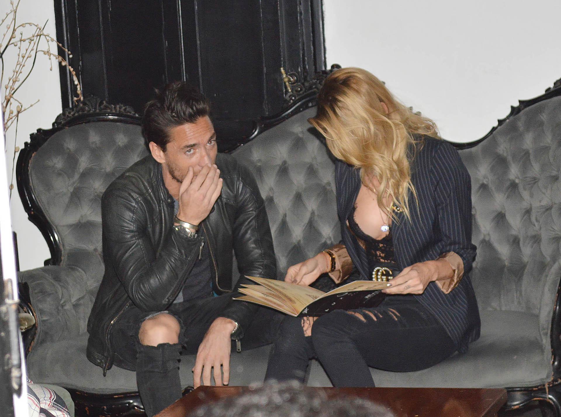 Nicole Neumann y Matías Tasín realizaron su primera salida pública en un bar de Núñez. La pareja había viajado a Miami a mediados de junio (Verónica Guerman / Teleshow)