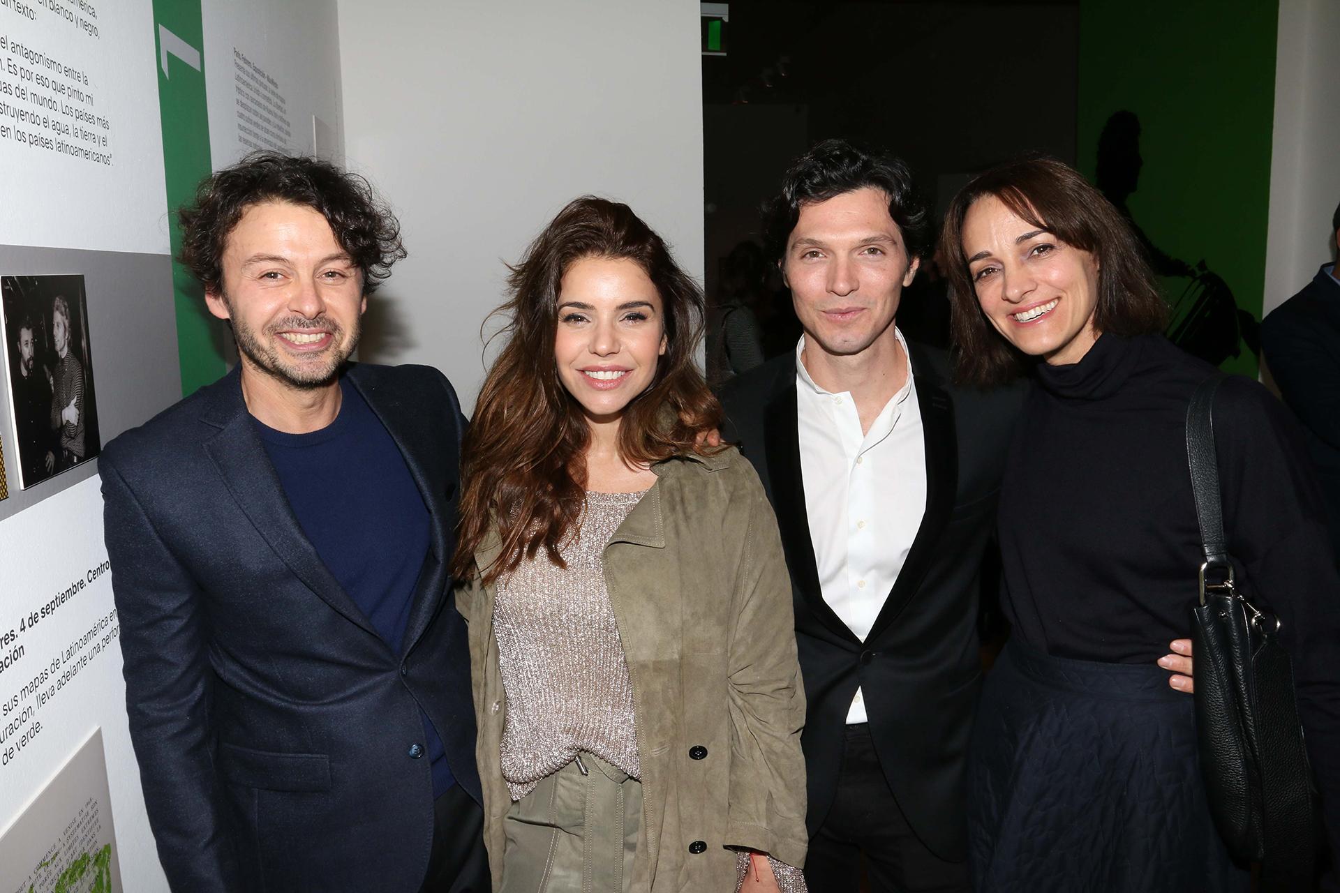 Wally Diamante, Romina Pigretti, Facundo Garayalde y Sandra Hillar