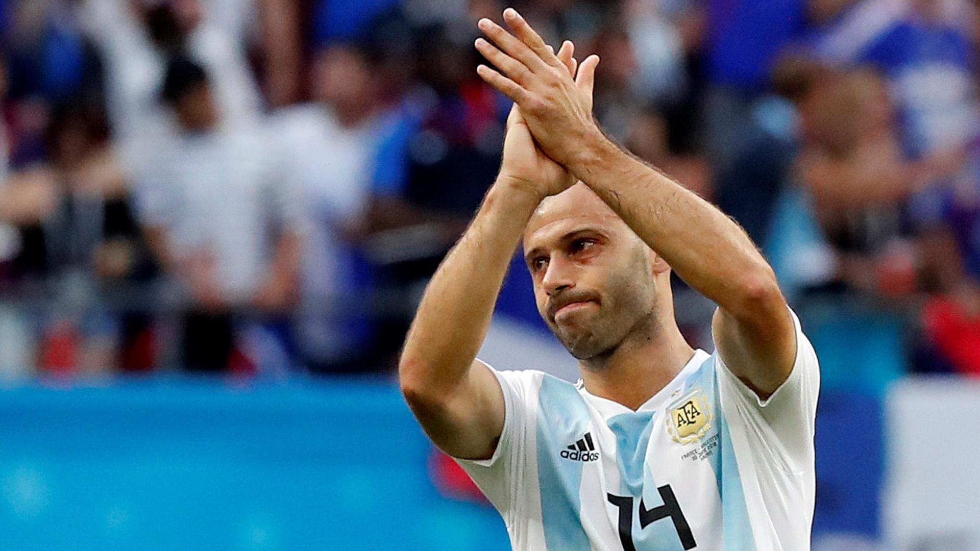 Javier Mascherano se despidió de la selección argentina como el futbolista con más presencias de la historia (REUTERS)