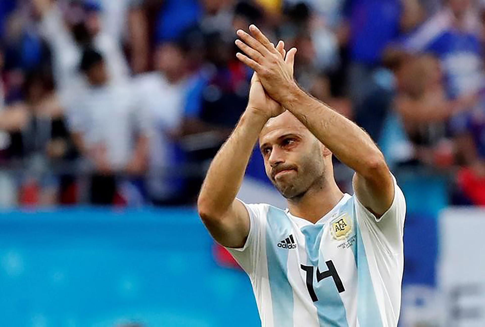 Argentino Javier Mascherano, en el Mundial de Rusia 2018 (REUTERS/Carlos Garcia Rawlins)