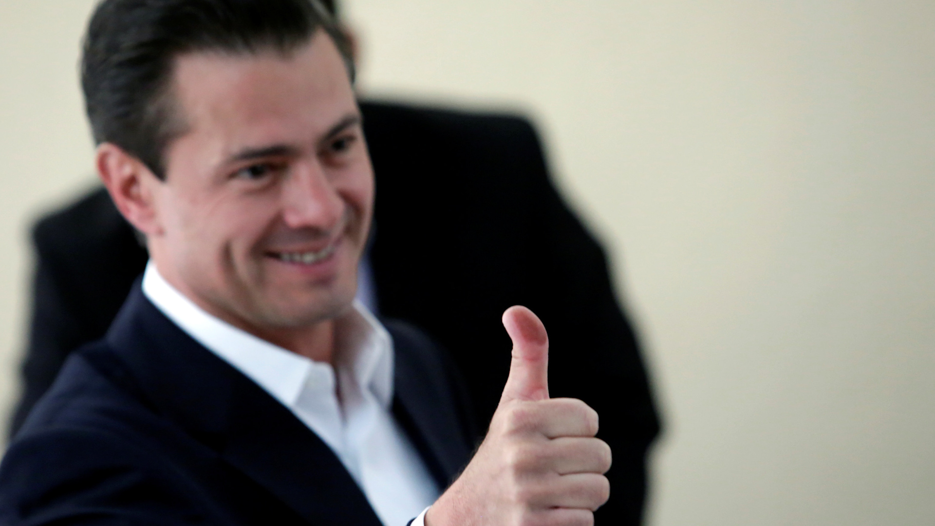 Enrique Peña Nieto el día que votó