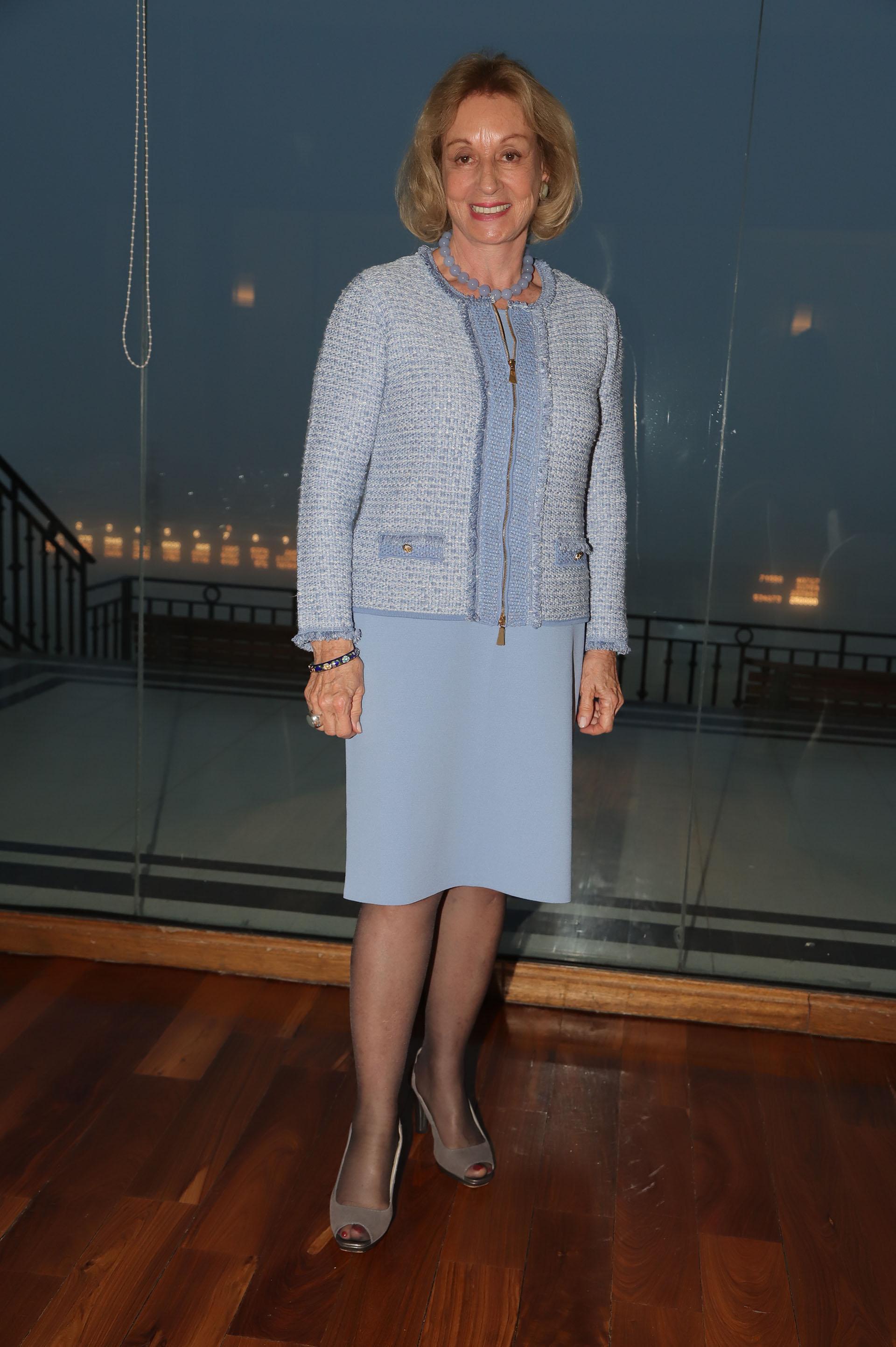 Miriam Bago, presidente de la Fundación del Hospital Fernández, participó del almuerzo y de la Carrera de las Estrellas