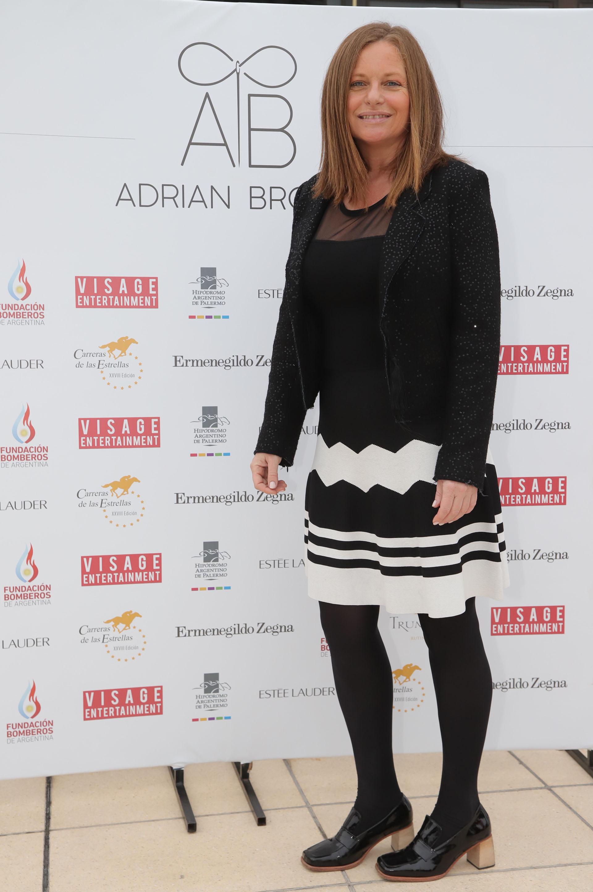 Gabriela Vidal estuvo a cargo de la organización del desfile de Adrián Brown