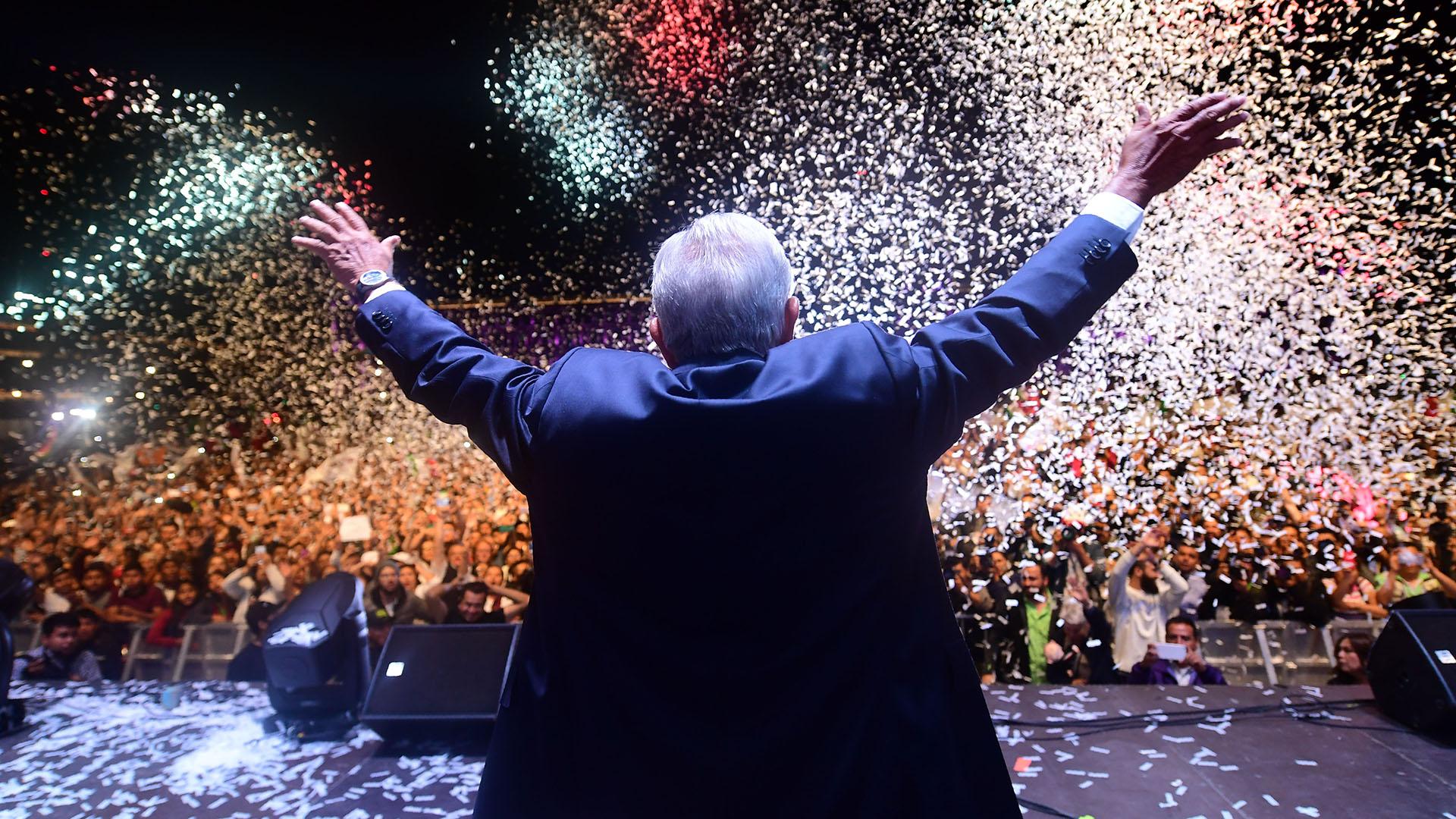 Andrés Manuel López Obrador fue elegido presidente de México con el 53% de los votos el 1 de julio