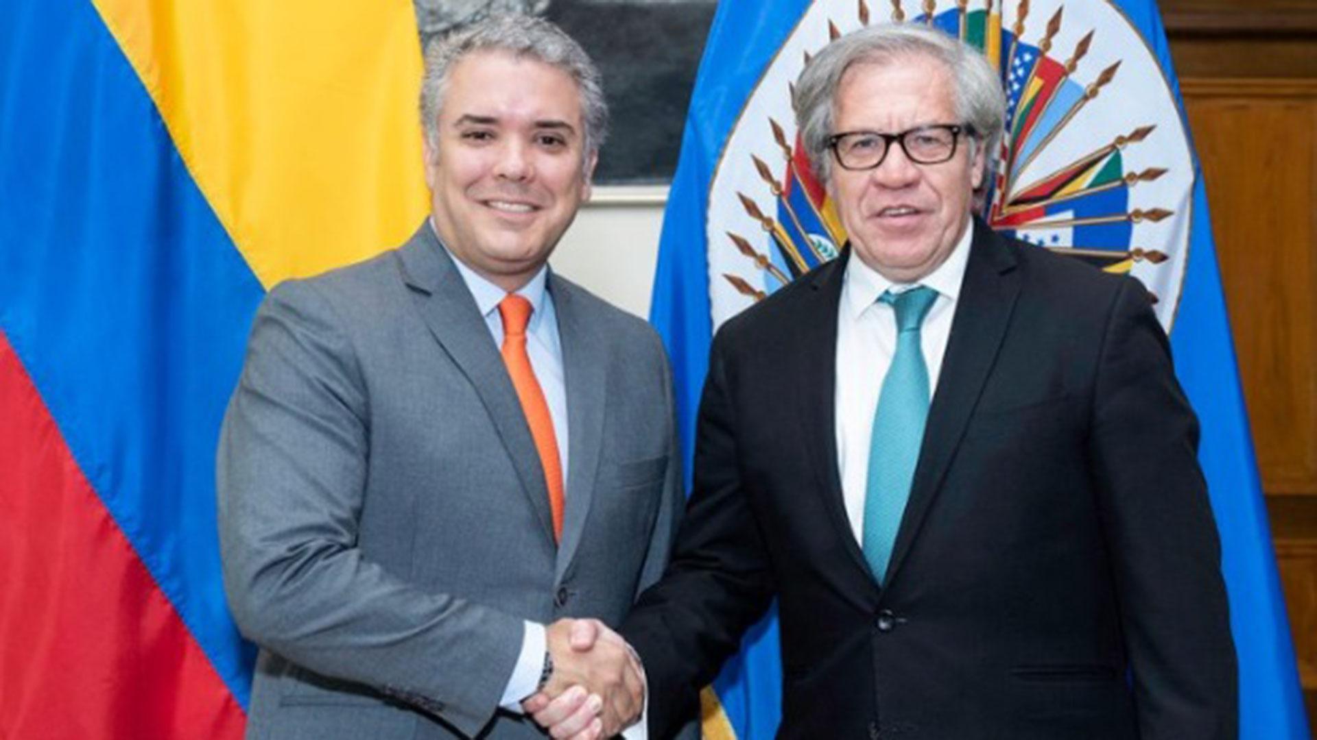 El presidente electo de Colombia, Iván Duque, y el secretario general de la OEA, Luis Almagro, se verán este jueves de nuevo