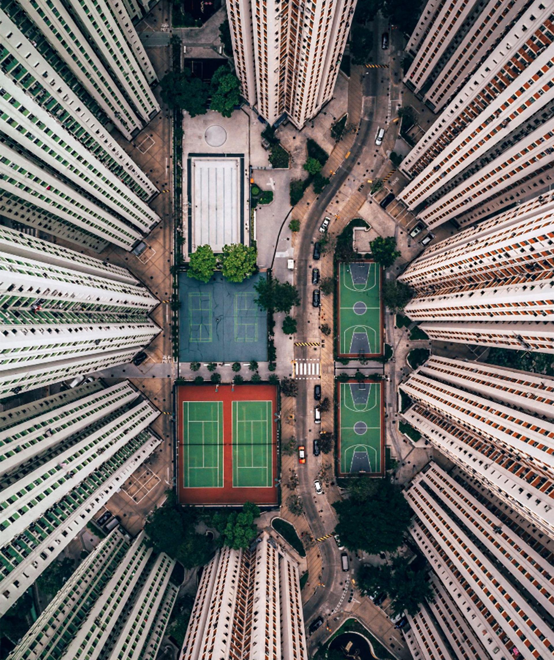 """""""Solo en la multitud"""". Hong Kong, China."""