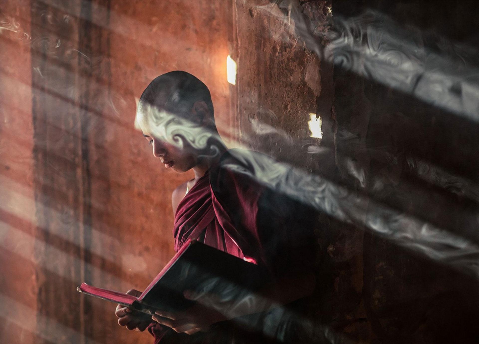 """""""Joven monje bagan"""". Bagan, Myanmar"""