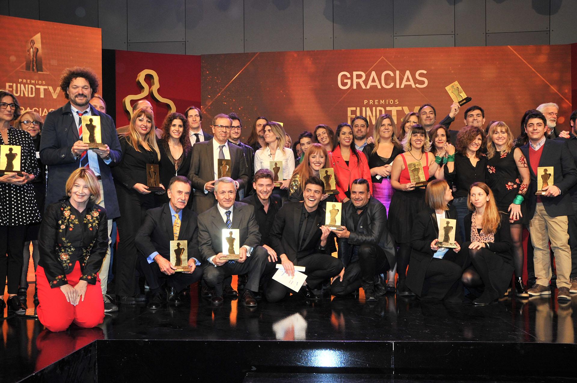 Los ganadores de los premios Fund TV (Teleshow)