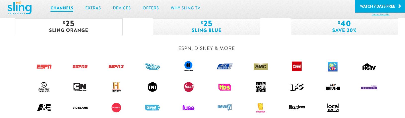 Sling TV, el servicio más popular, pasó de USD 20 a USD 25. La tendencia al alza se mantendrá.