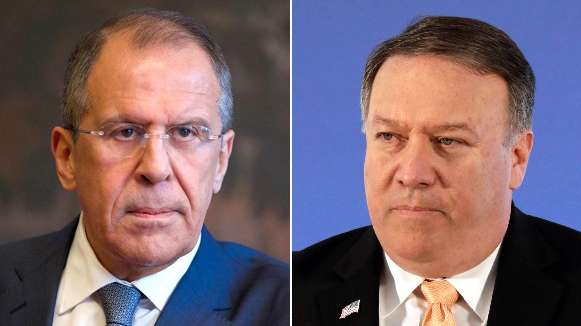 Sergei Lavrov y Mike Pompeo
