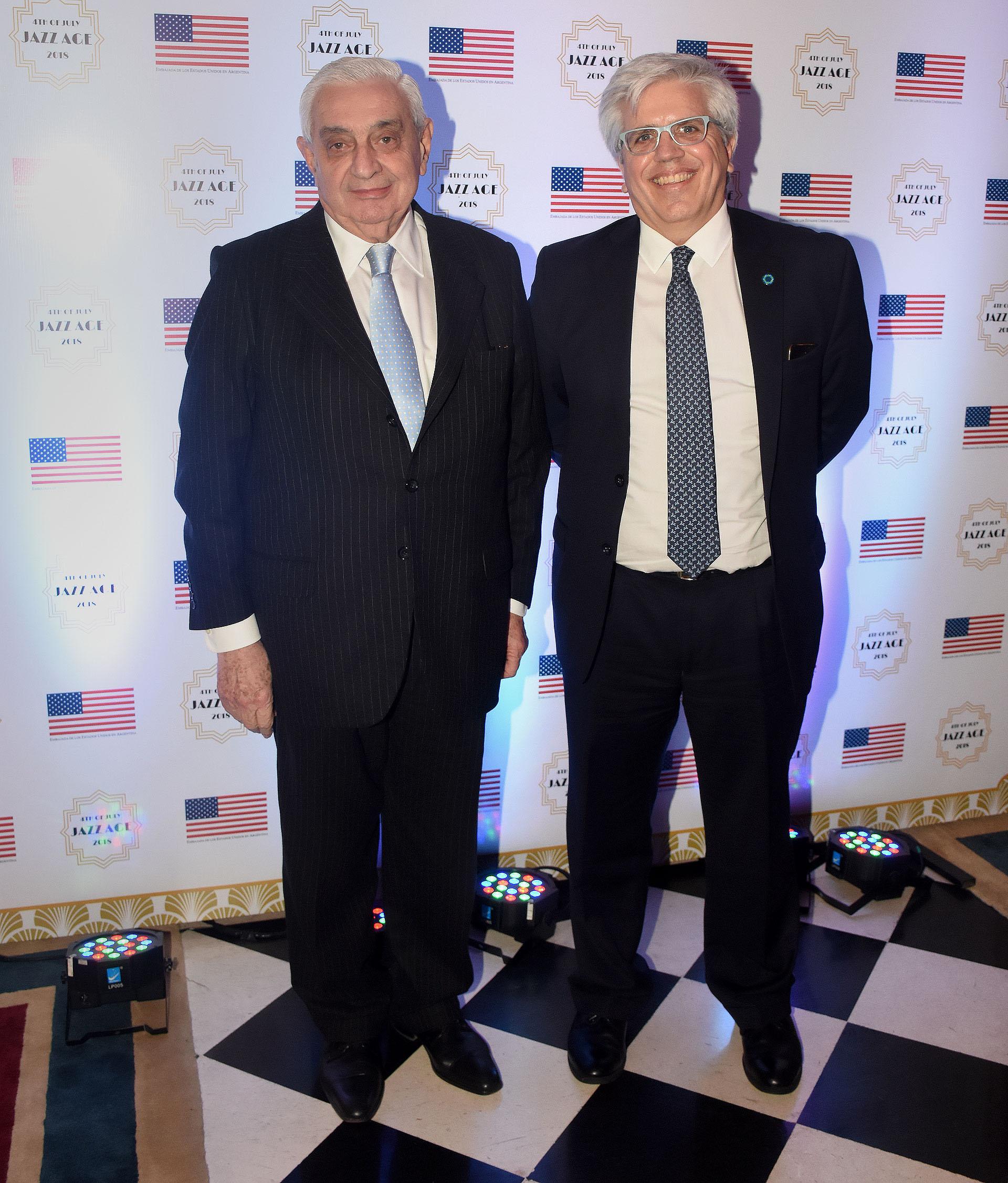 El presidente de la Bolsa de Comercio de Buenos Aires, Adelmo Gabbi, y el presidente del ByMA, Ernesto Allaria
