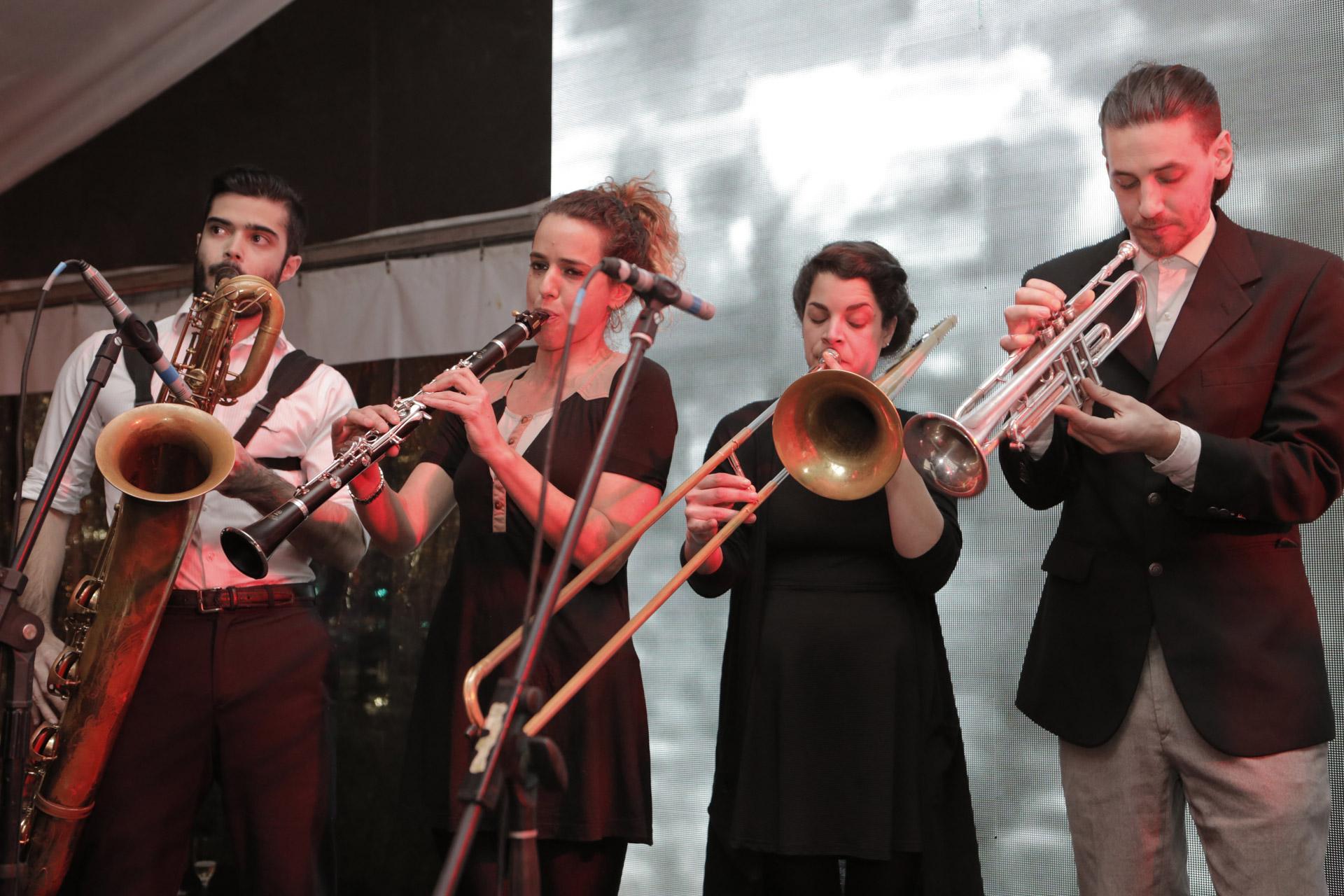 Un show de jazz durante la recepción