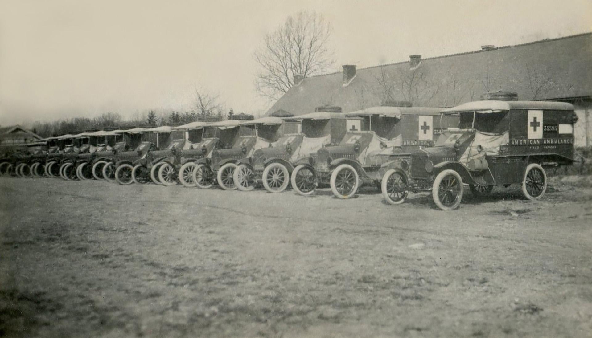 La flota de ambulancias modelo Ford T al servicio del ejército francés