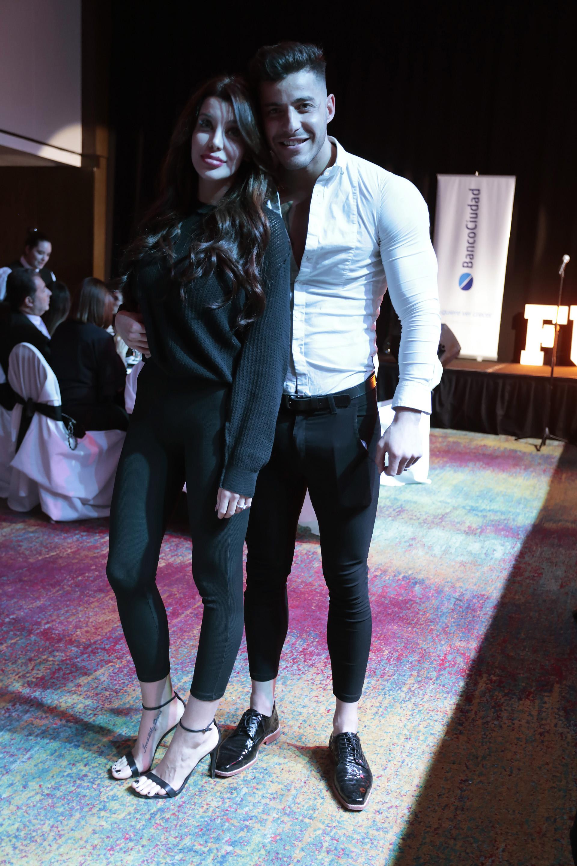 Charlotte Caniggia reapareció con Lohan en la gala a beneficio de Fundamind. Es la primera vez que se muestra en público, tras los rumores de embarazo (Christian Bochichio)