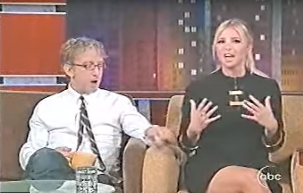 Andy Dick e Ivanka Trump durante el programa de Jimmy Kimmel en 2007