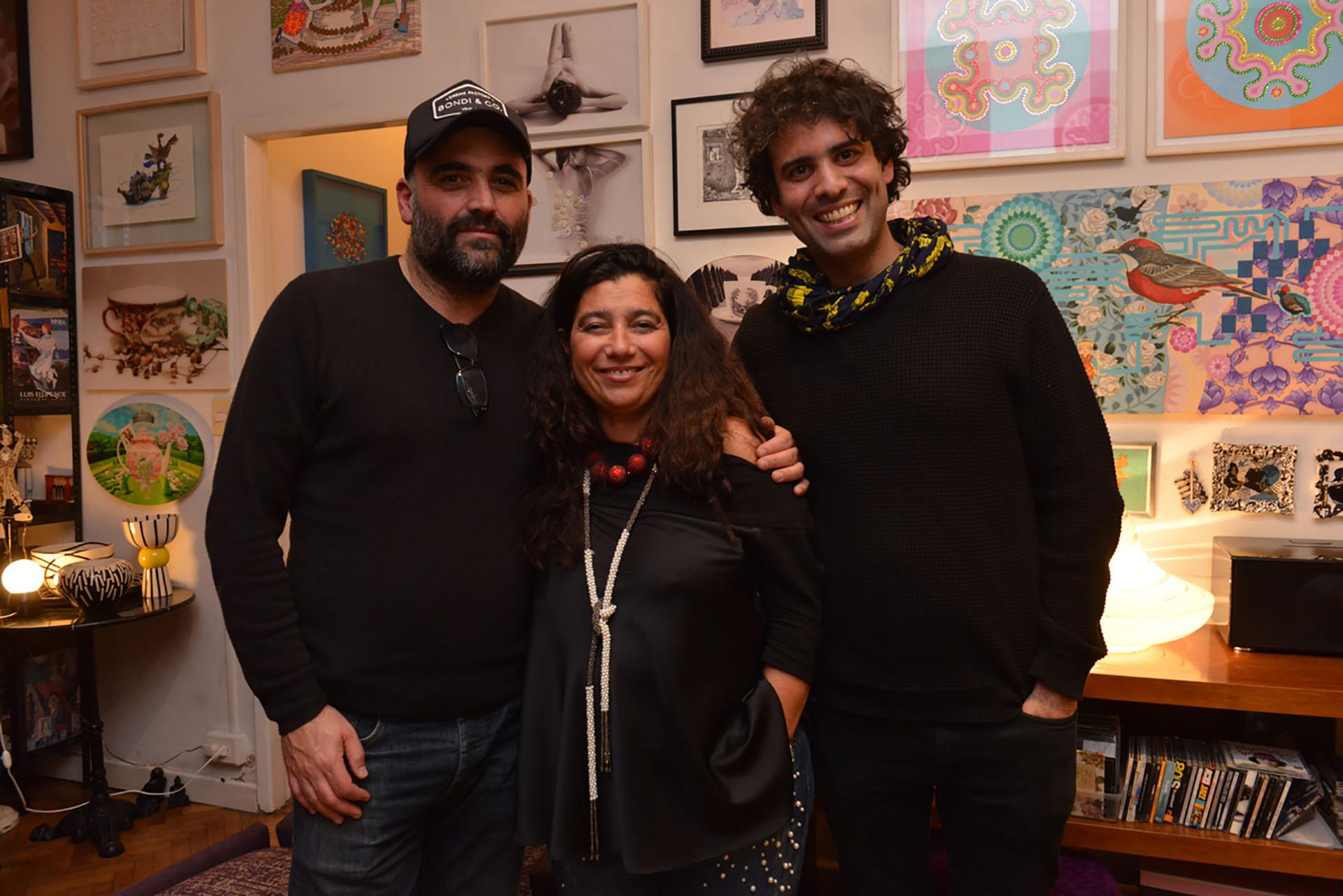 David Sisso, Mariela Ivanier y Santiago Carrera