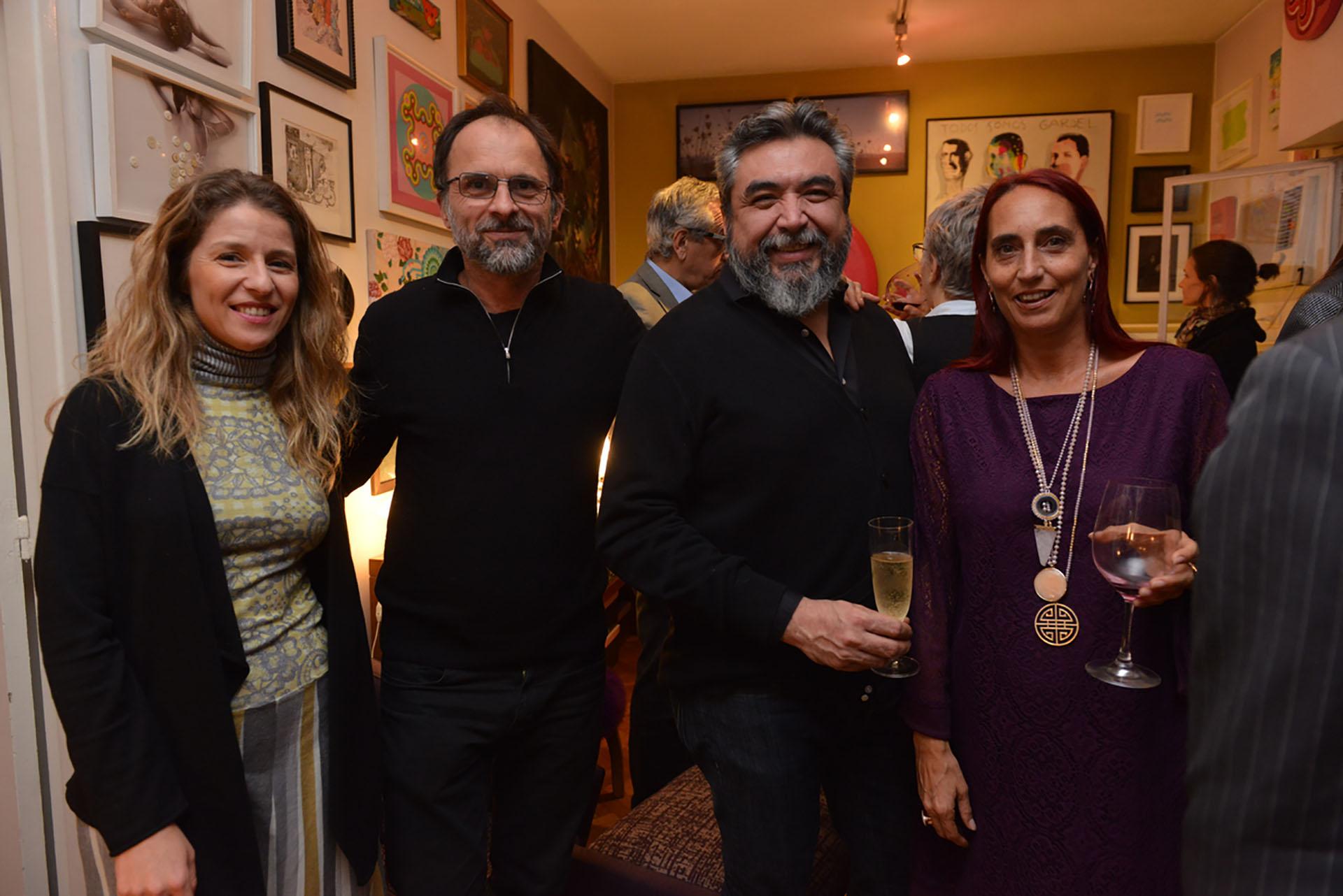 Luciana Mantero, Alejandro Guyot, Cristian Alarcón y Carolina Garzón
