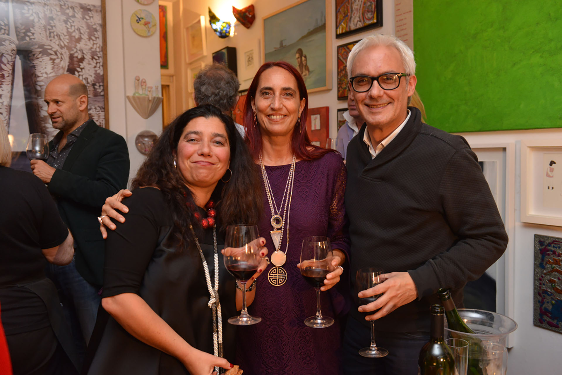 Mariela Ivanier, la empresaria Carolina Garzón y el juez Pablo Casas