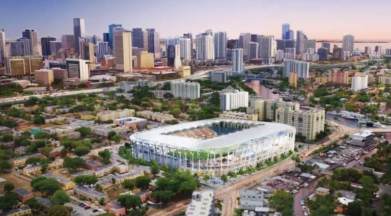 Proyecto original del estadio para el equipo de Beckham en la zona de Miami conocida como Overtown
