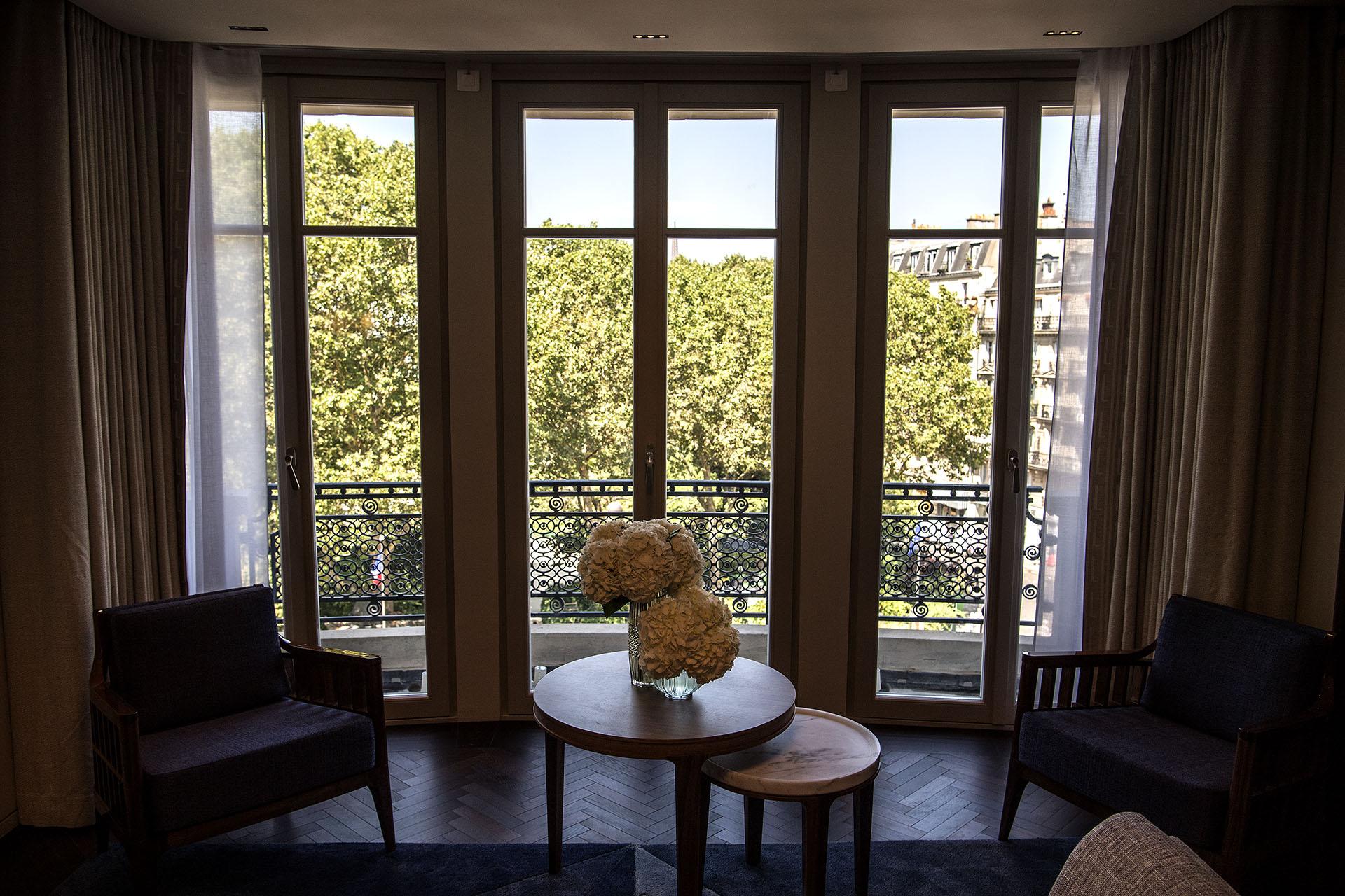El interior de una de las suits del Hotel Lutecia (AFP PHOTO / Christophe ARCHAMBAULT)