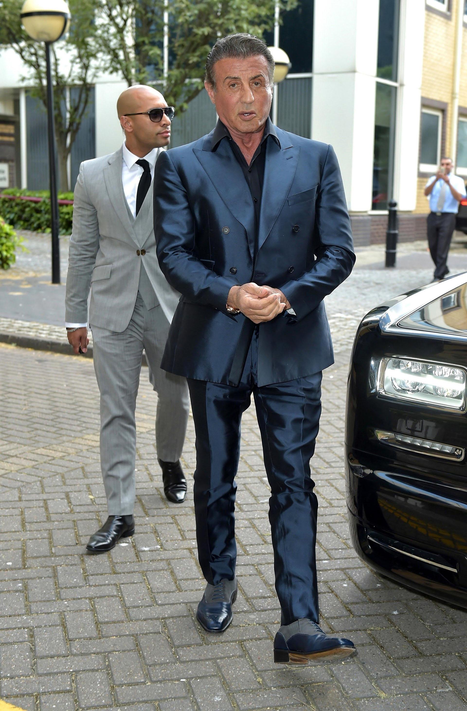 Sylvester Stallone, una de las glorias de la pantalla grande estadounidense, festejó sus 72 años con una gran celebración (Grosby Group)