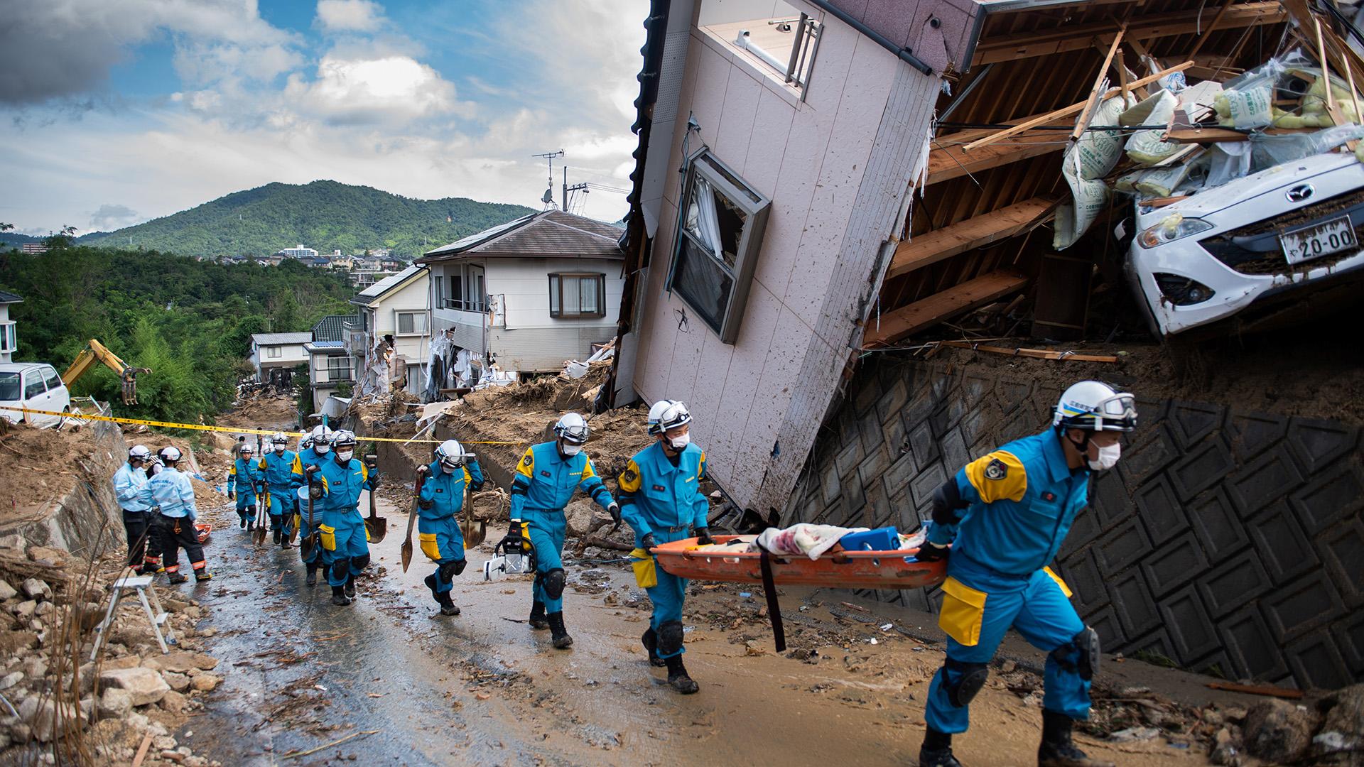 Japón, los peores desbordes en 36 años
