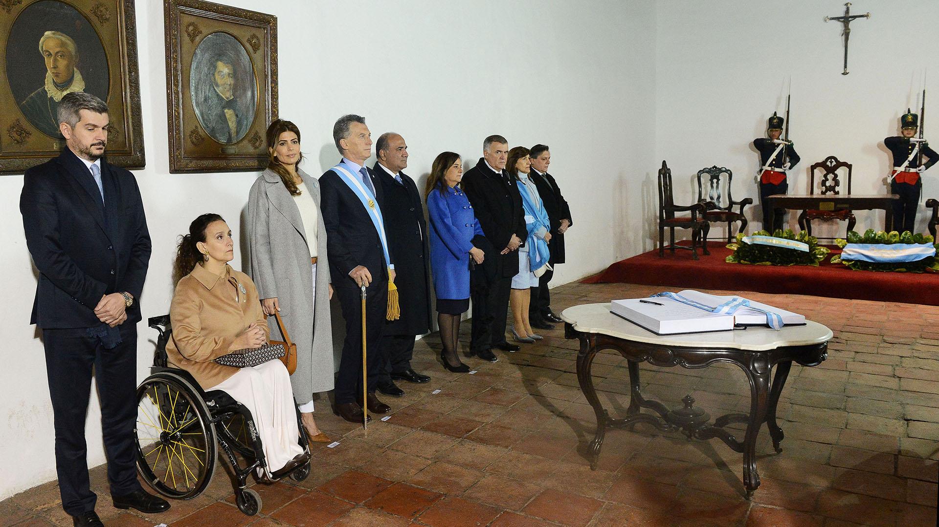 El Presidente estuvo acompañado por su esposa, la primera Dama Juliana Awada, la vicepresidente Gabriela Michetti y varios miembros de su Gabinete