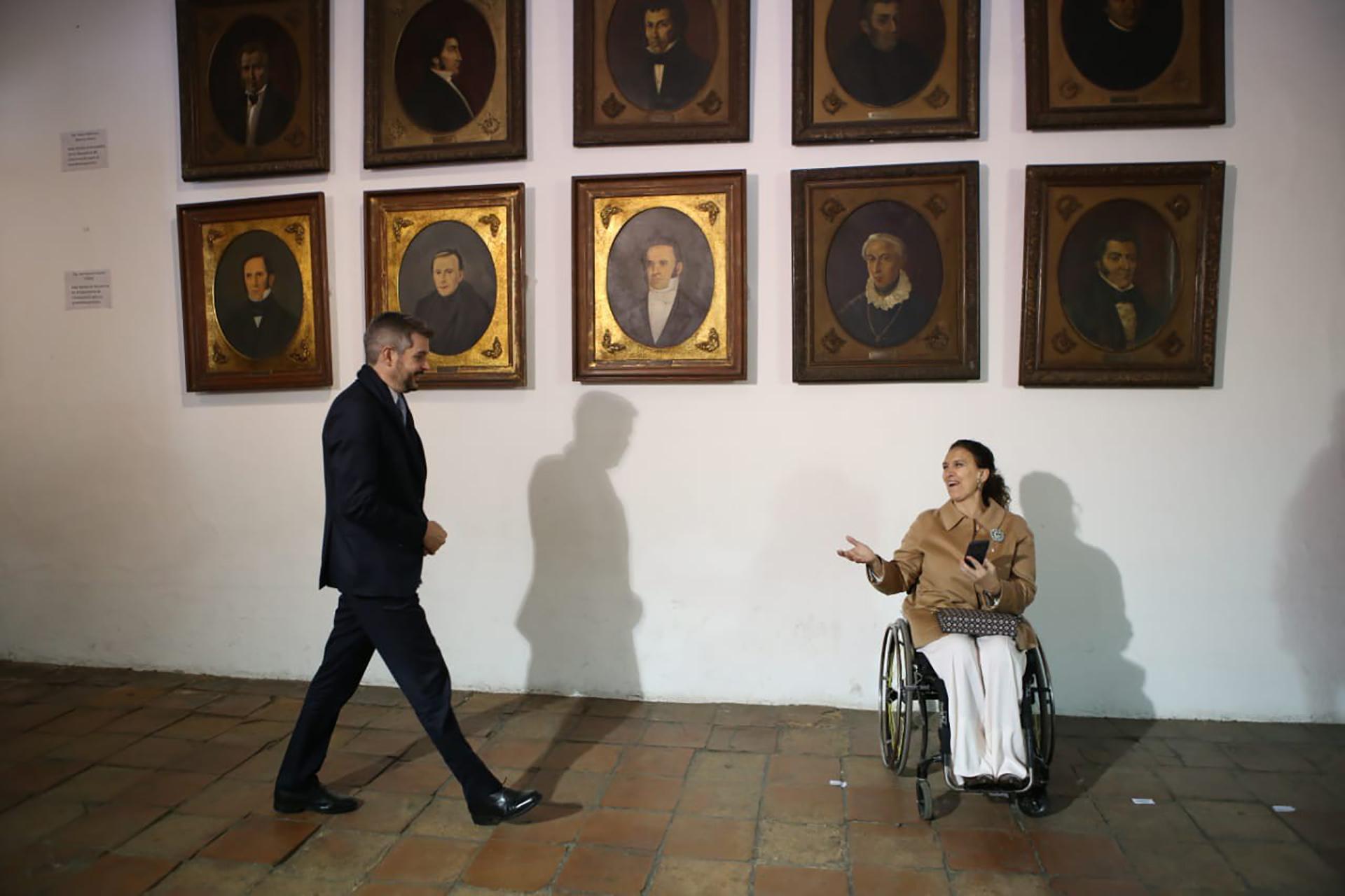 El jefe de Gabinete, Marcos Peña, y la vicepresidente Gabriela Michetti