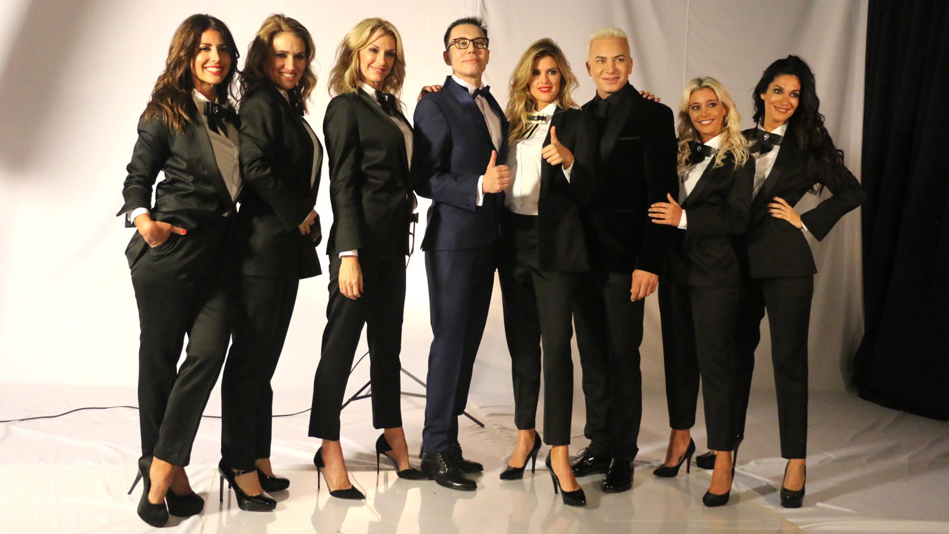 Marcelo Polino volverá a la pantalla chica el 23 de julio. Todo el equipo posó para las fotos oficiales del nuevo ciclo (Verónica Guerman / Teleshow)