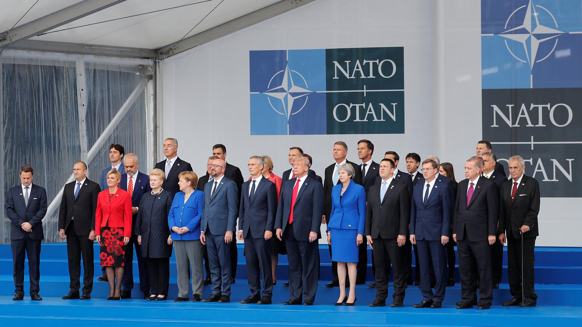 Líderes de la OTAN durante la última cumbre de 2018(Reuters)