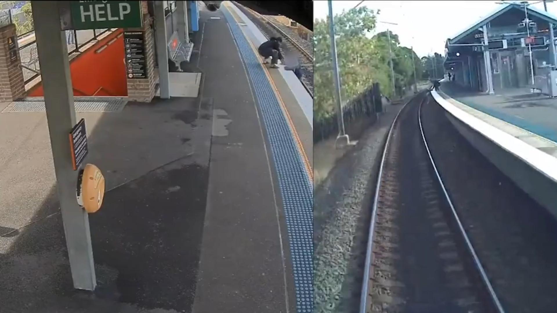 Un hombre lo vio y fue corriendo a ayudarlo