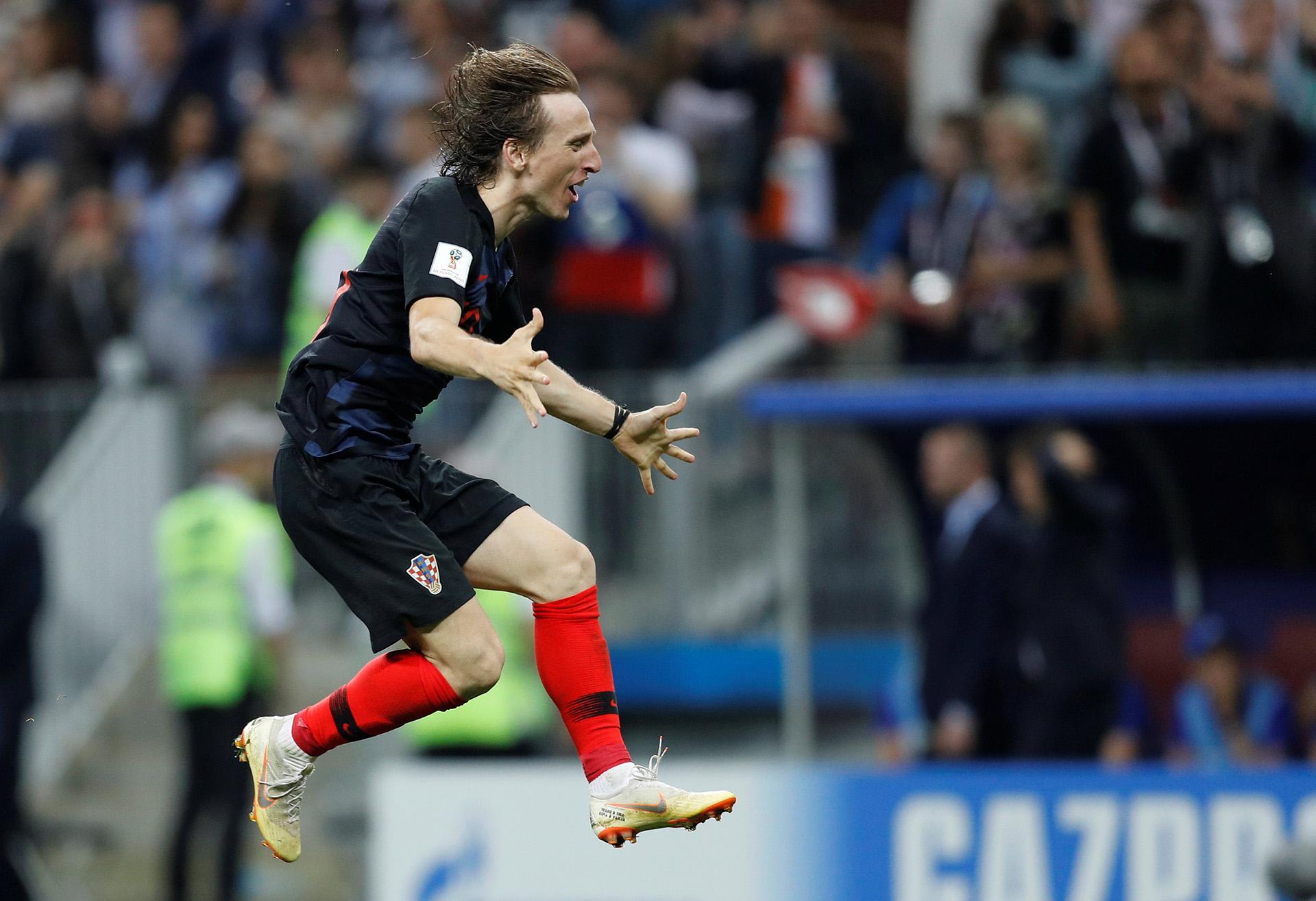 Luka Modric celebra el pasaje a la final de la Copa del Mundo (Foto: REUTERS/Darren Staples)