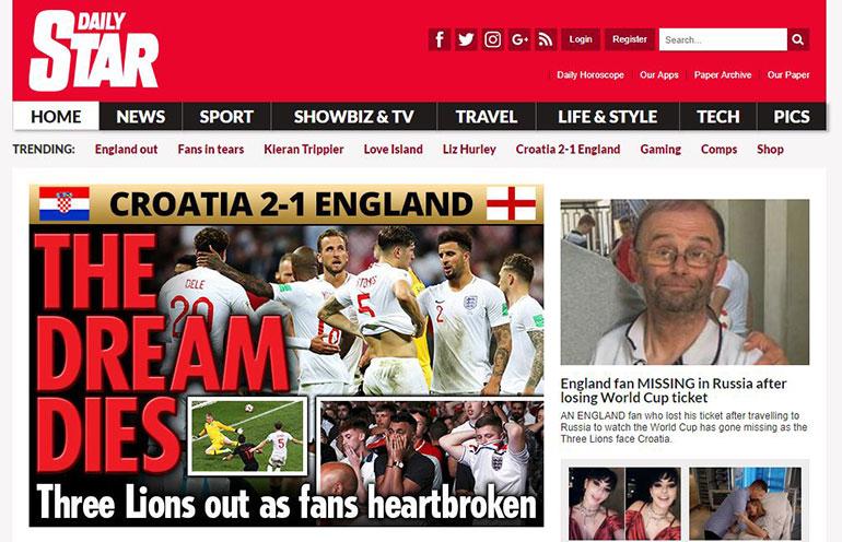 Murió el sueño (Daily Star)