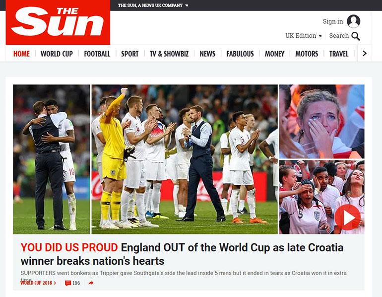 Nos hiciste sentir orgullosos (The Sun)