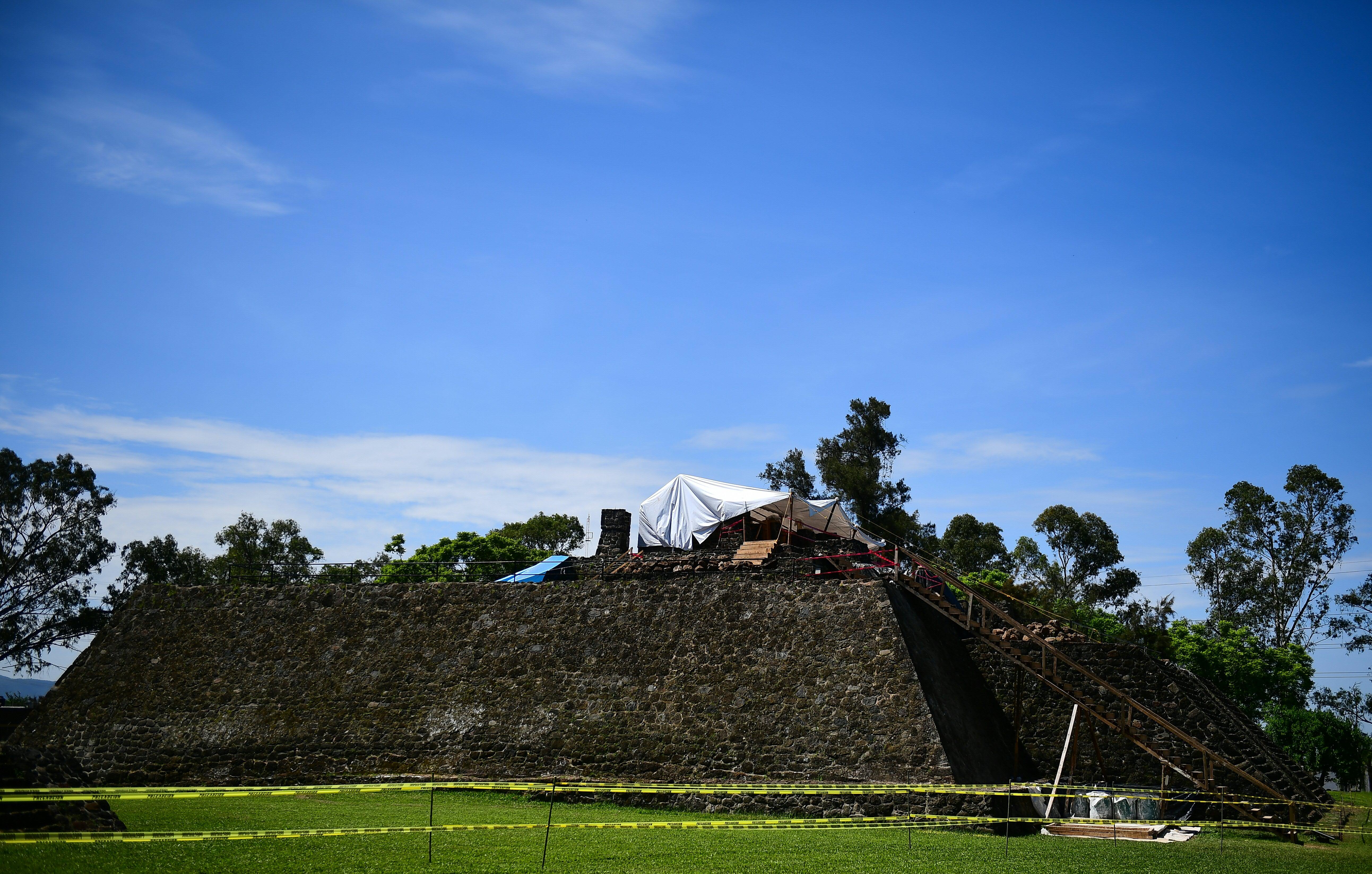 La pirámide de Teopanzolco en Cuernavaca (AFP/ RONALDO SCHEMIDT)