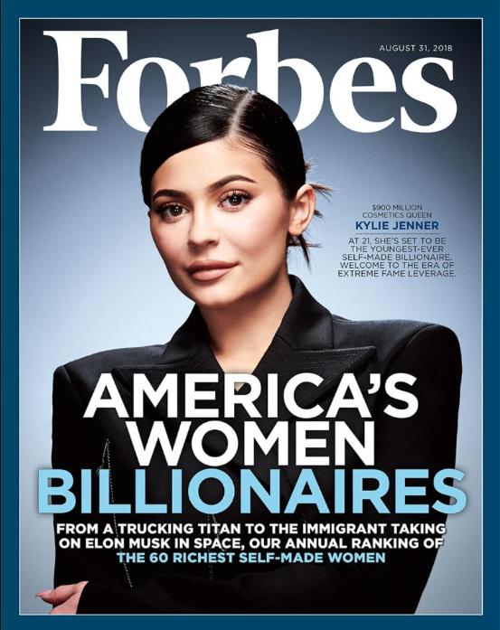 Forbes nombró a Kylie Jenner la multimillonaria más rica de la historia hecha por sí misma (Forbes)
