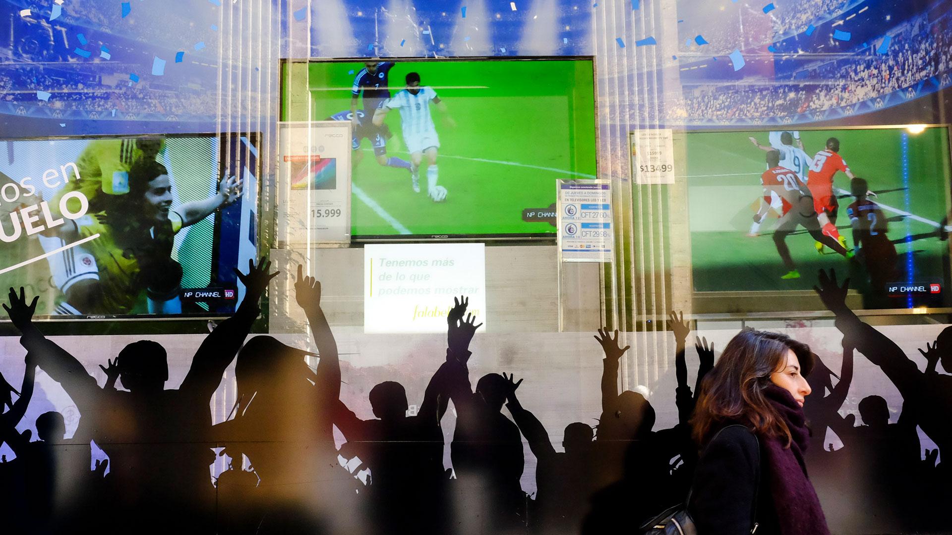 Fútbol y venta de televisores: combo exitoso, más allá de los resultados (NA)