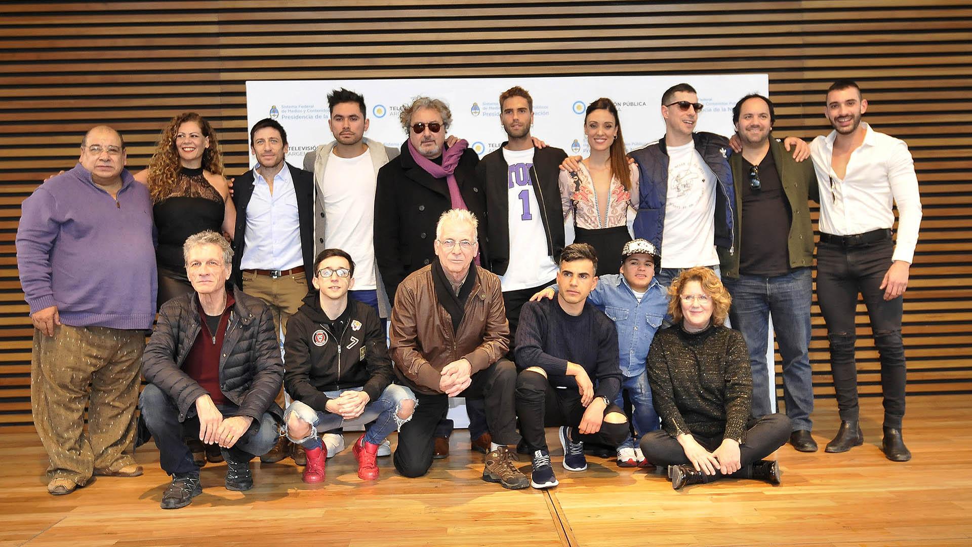 """El elenco de """"El Marginal 2, la precuela"""", que se estrena este martes 17 de julio a las 22 por la TV Pública (Teleshow)"""