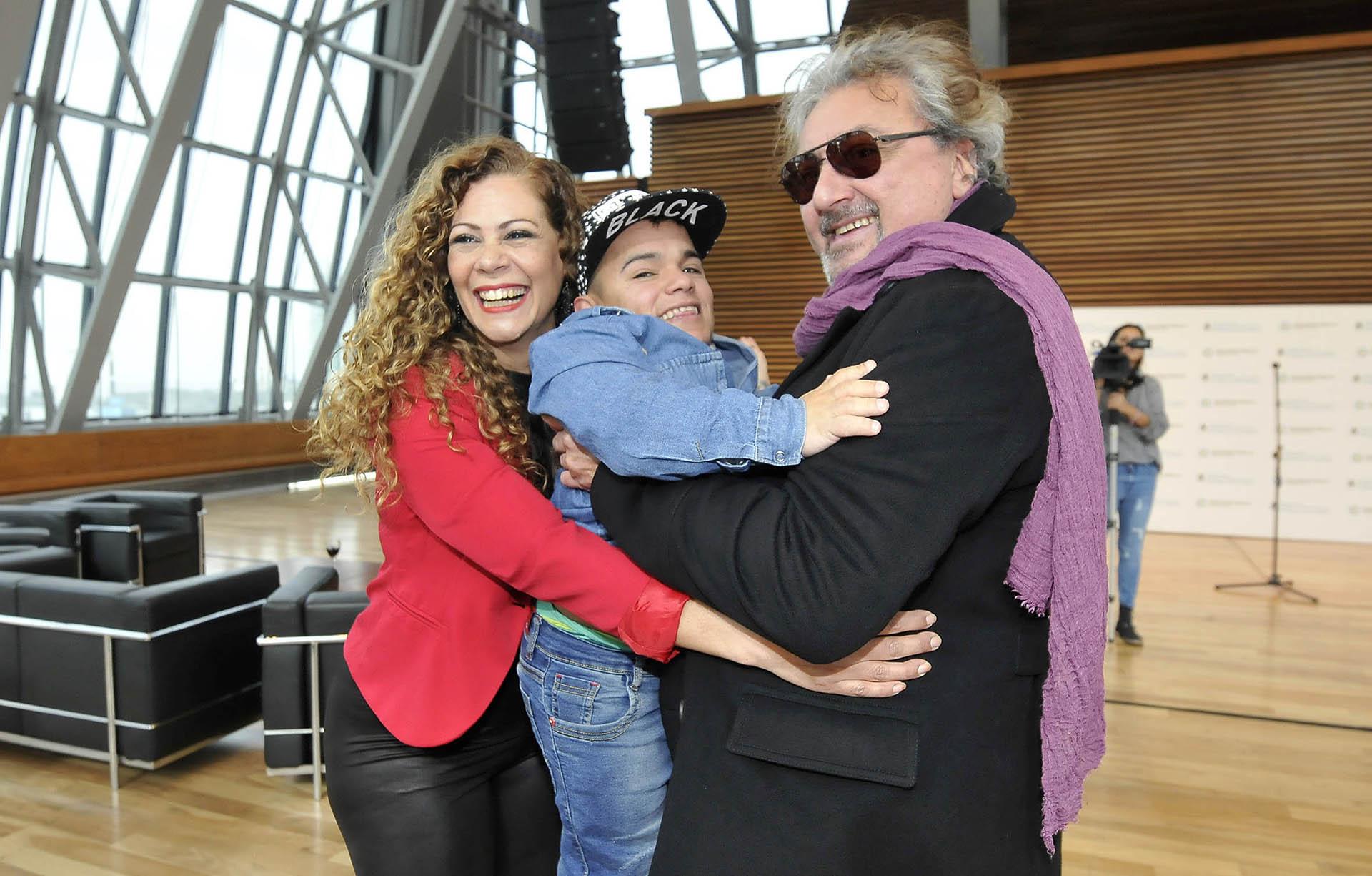 Loren Acuña, Brian Buley y Claudio Rissi