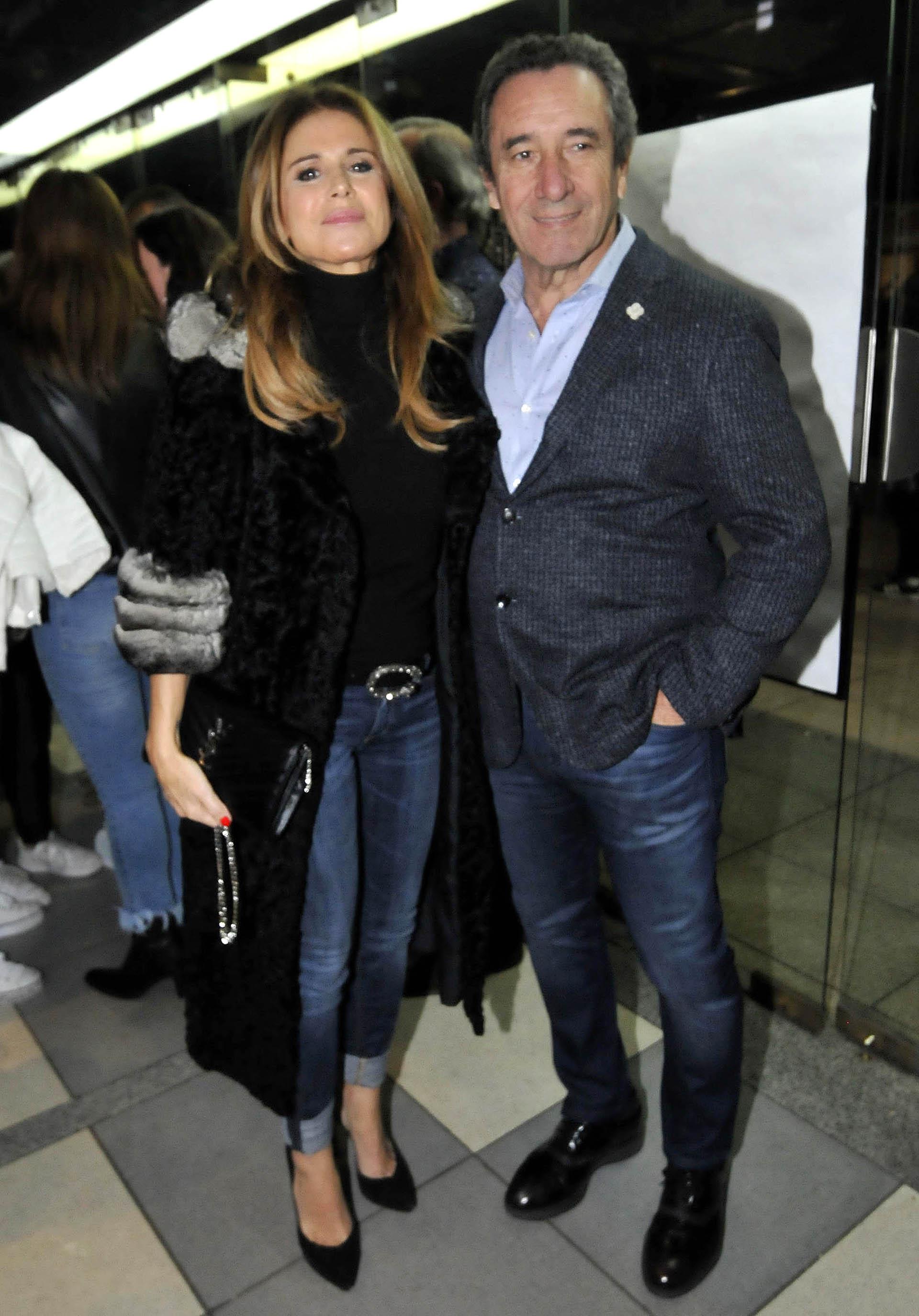 Flavia Palmiero y su pareja Luis Alberto Scalella