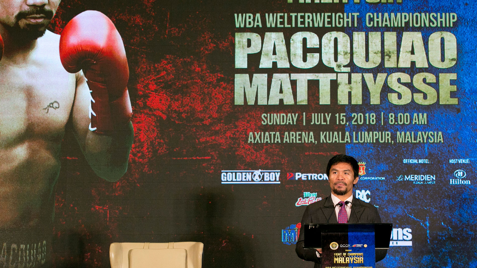 Pacquiao es el favorito de los apostadores para la pelea con Matthysse (AP)