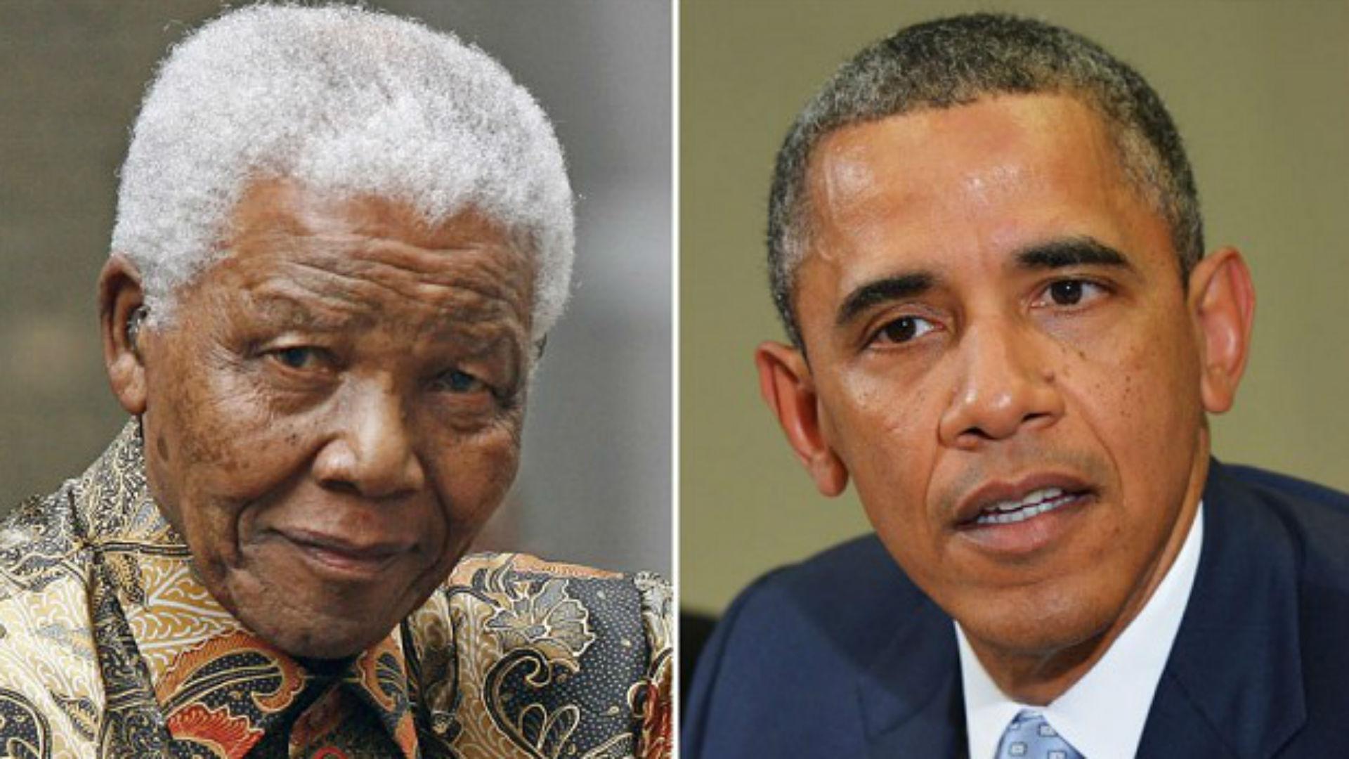 Nelson Mandela y Barack Obama.