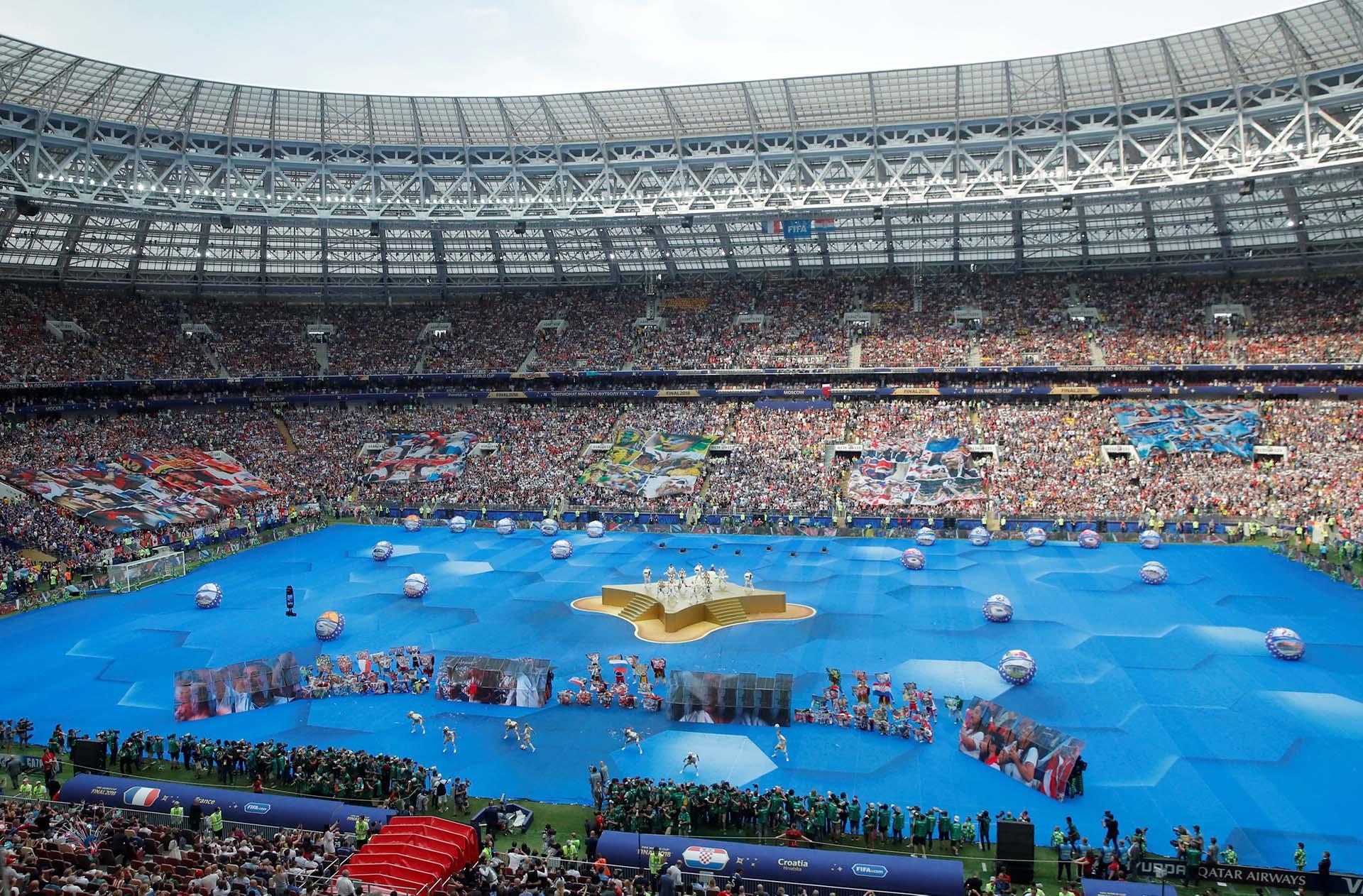 La final del Mundial de Rusia entre Croacia y Francias se jugó en el estadio Luzhniki (REUTERS/Maxim Shemetov)