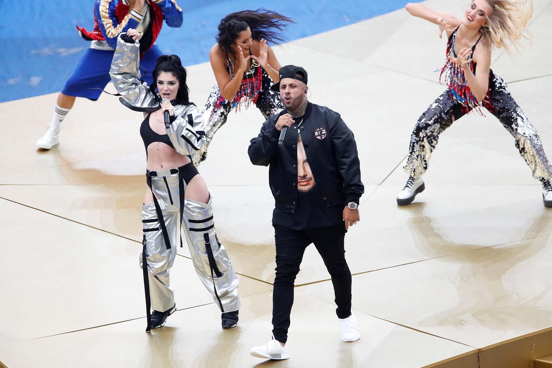 El Mundial de Rusia llega a su fin y los organizadores prepararon una fiesta previa al duelo entre las dos mejores selecciones del certamen: Francia y Croacia