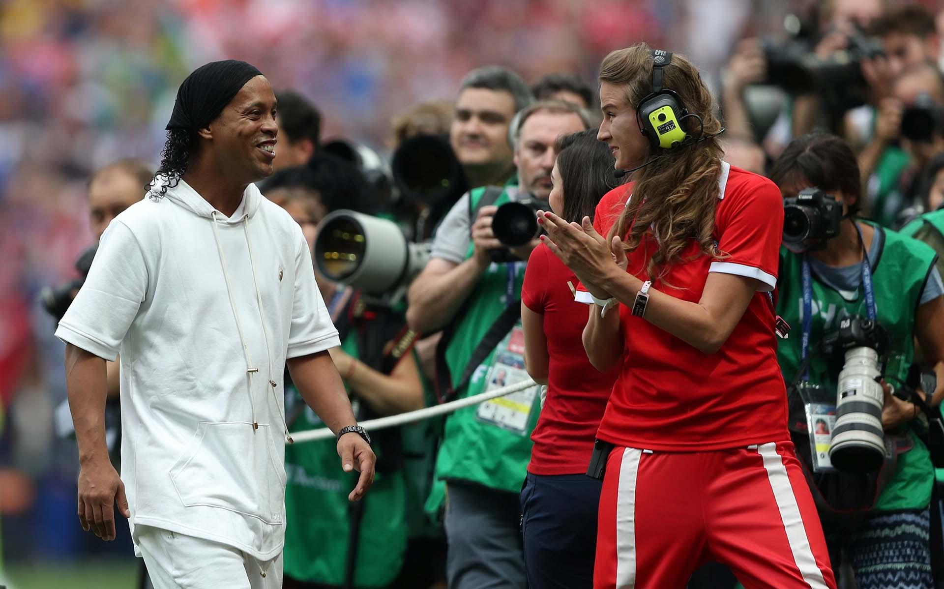Ronaldinho, figura de la ceremonia
