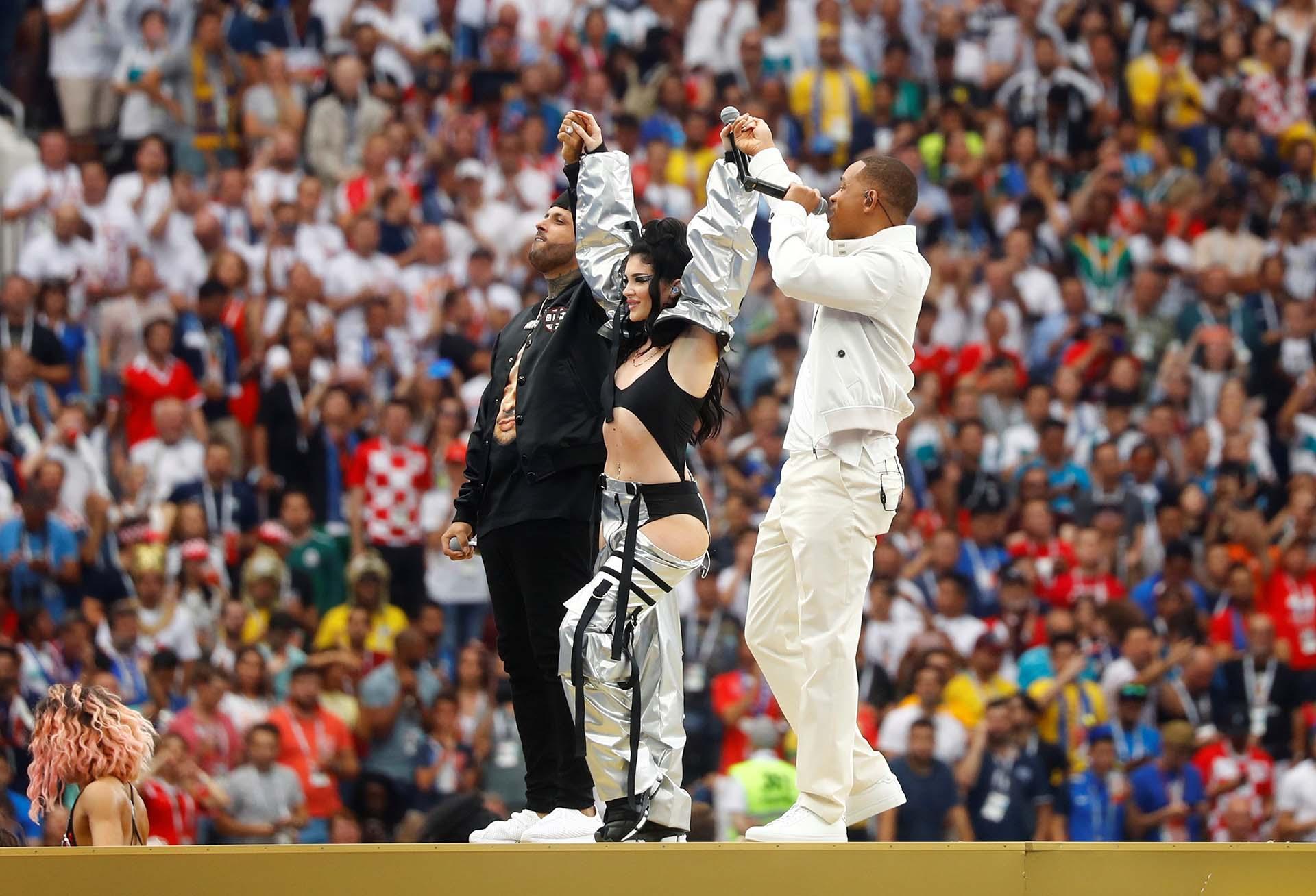 Will Smith, Nicky Jam y Era Istrefi, los protagonistas de la ceremonia de clausura del Mundial de Rusia