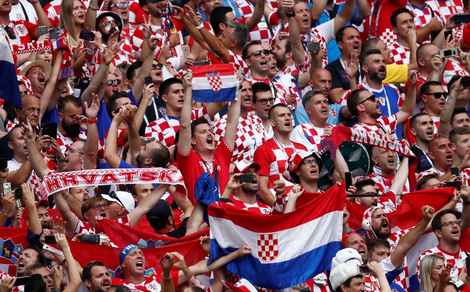 La ilusión de los hinchas croatas antes de la final