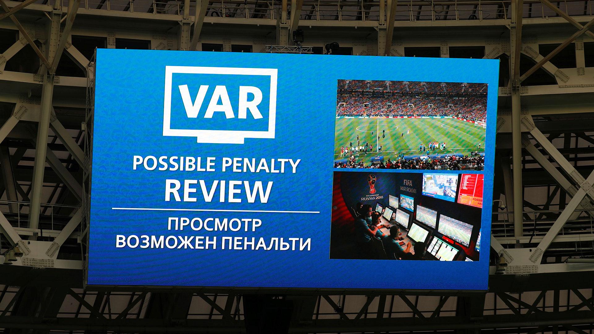 El VAR se utilizó en la final