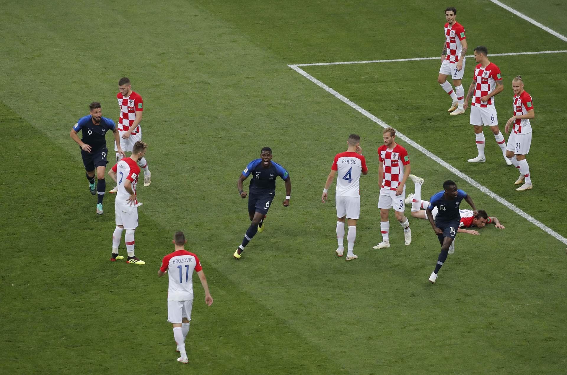 Francia celebra al apertura del marcador